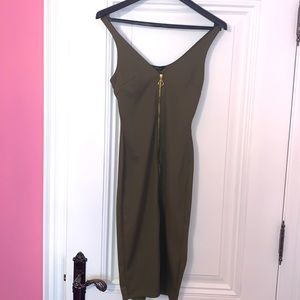 NWT Miss Selfridge Army Green Bodycon Dress Sz 2